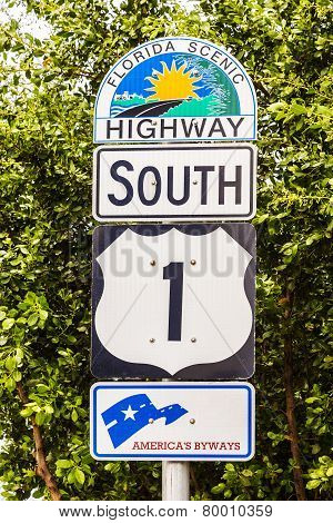 Highway Sign No1 Florida Keys
