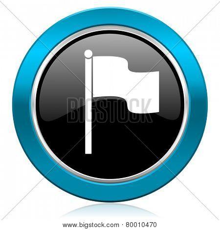 flag glossy icon