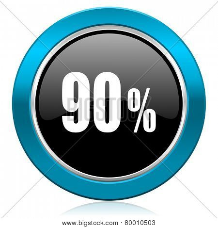 90 percent glossy icon sale sign