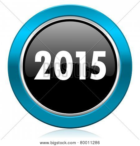 new year 2015 glossy icon new years symbol
