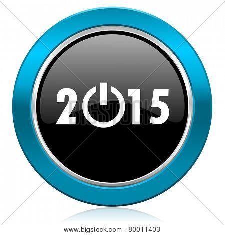 new year 2015 glossy icon new years symbol