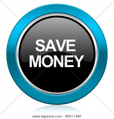 save money glossy icon