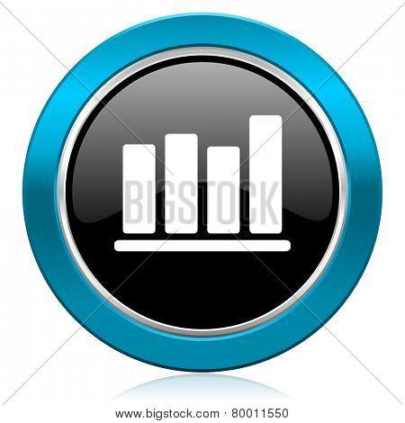 bar chart glossy icon