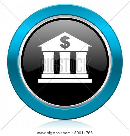 bank glossy icon