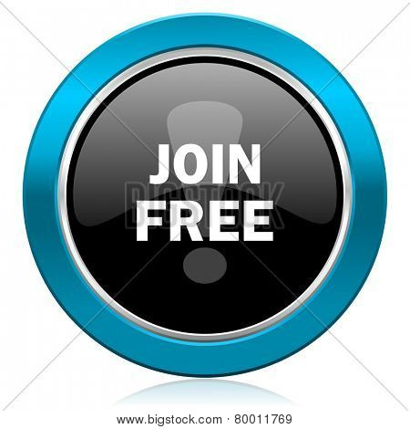 join free glossy icon