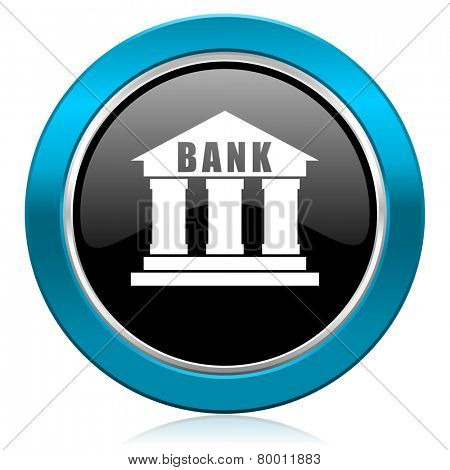 bank glossy icon