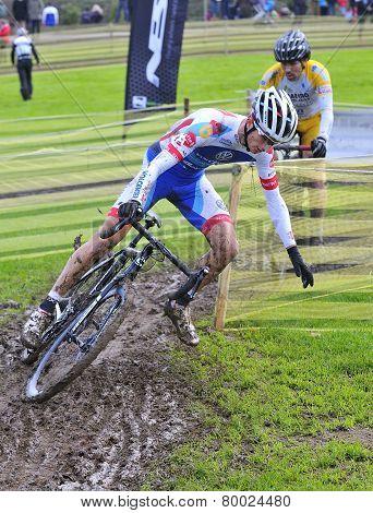 Gijon, Spain - January 11: Cyclocross Championships Spain In January 11, 2015 In Gijon, Spain. The C