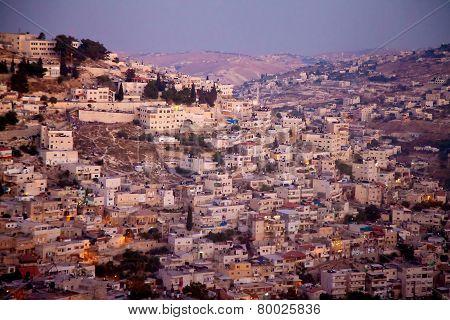 East Jerusalem In Evening Light