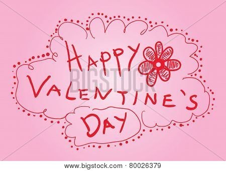 Happy Valentine'S Day Sketck Card