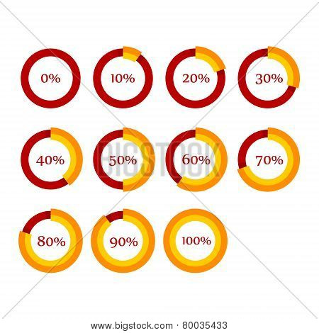 Percentage diagram presentation vector photo bigstock percentage diagram presentation design elements infographic chart ring set vector ccuart Choice Image