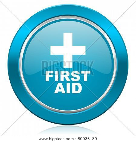 first aid blue icon