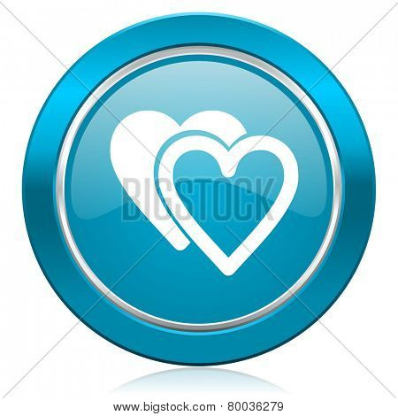 love blue icon blue sign hearts symbol