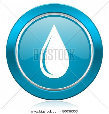 water drop blue icon