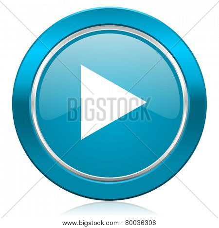 play blue icon