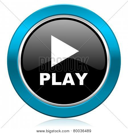 play glossy icon
