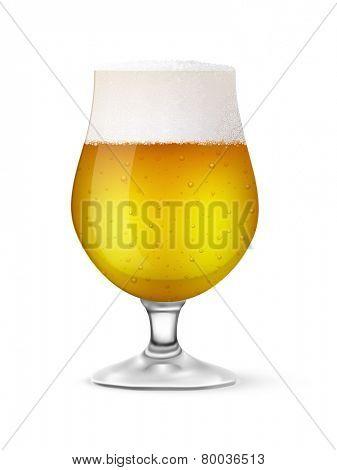 vector glass of beer