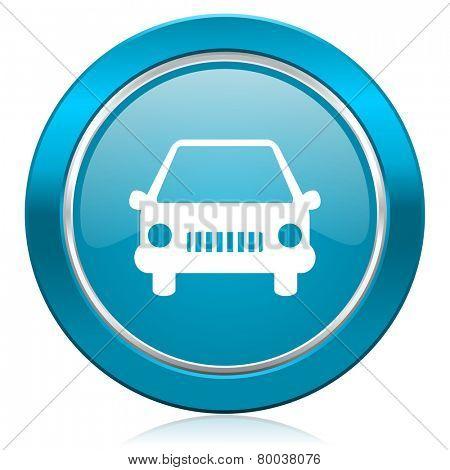 car blue icon auto sign