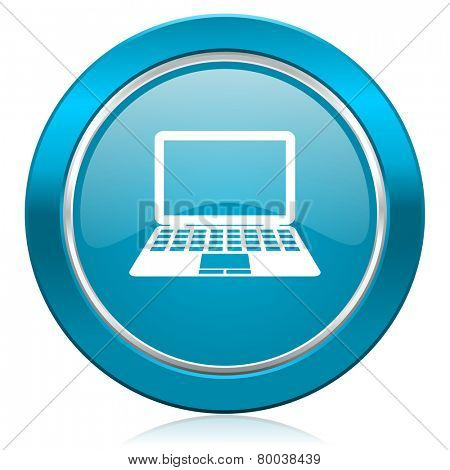 computer blue icon pc sign