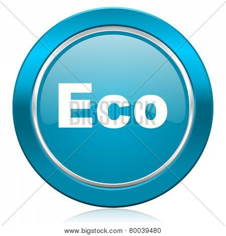 eco blue icon ecological sign