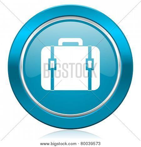 bag blue icon luggage sign