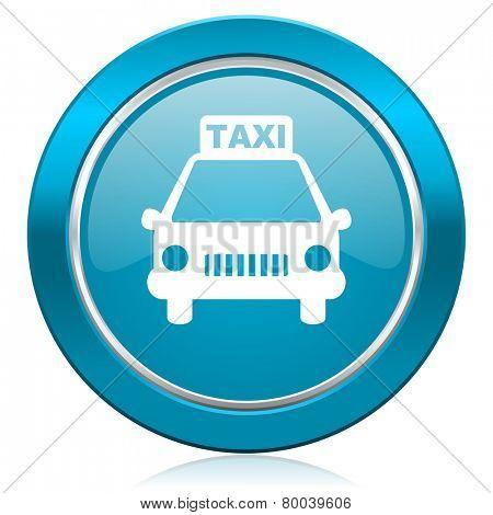 taxi blue icon