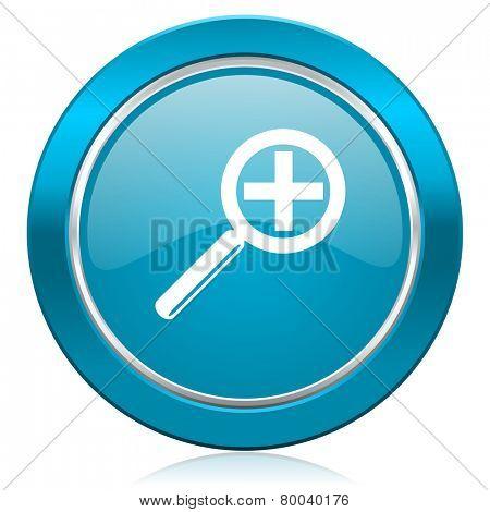 lens blue icon