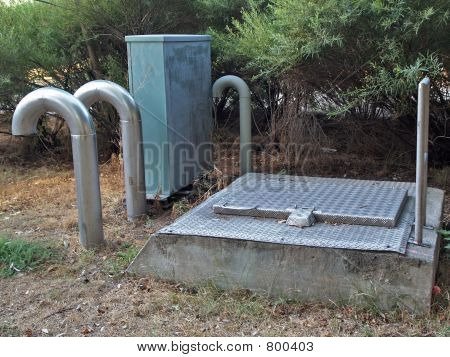 Ventilation  pipes of communication well