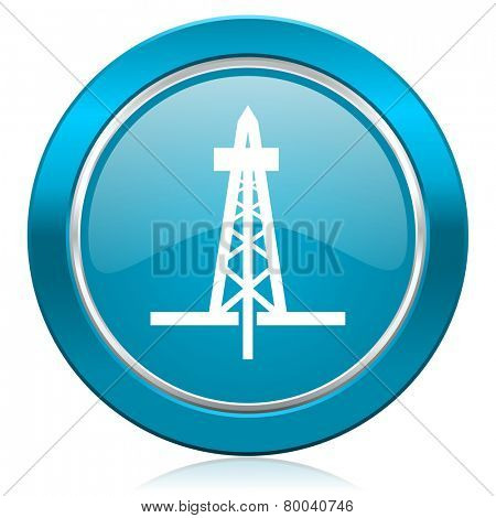 drilling blue icon