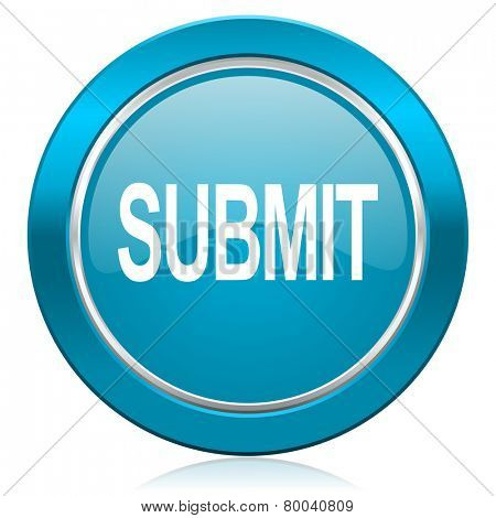 submit blue icon