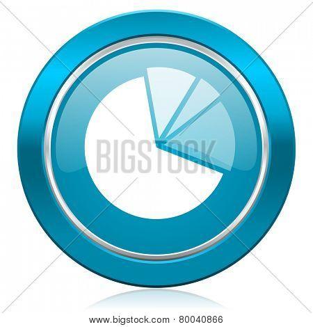 diagram blue icon graph symbol