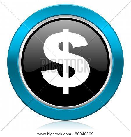 dollar glossy icon us dollar sign