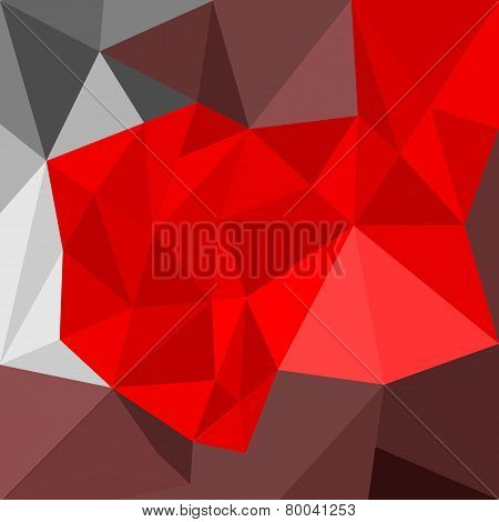 Abstract geometric vector background with flat brown, red and grey polygon triangle