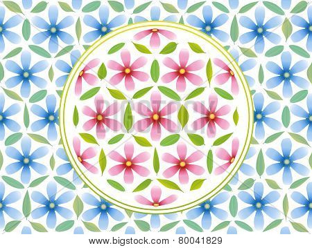 Flower Of Life Pattern Pink Blue