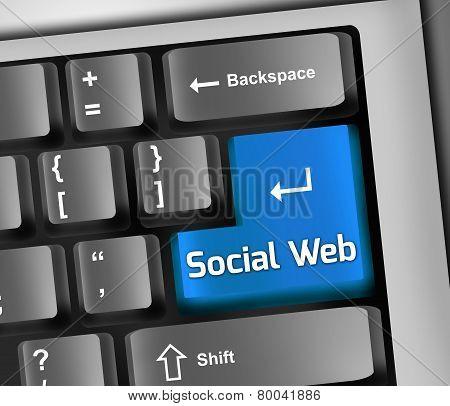 Keyboard Illustration Social Web