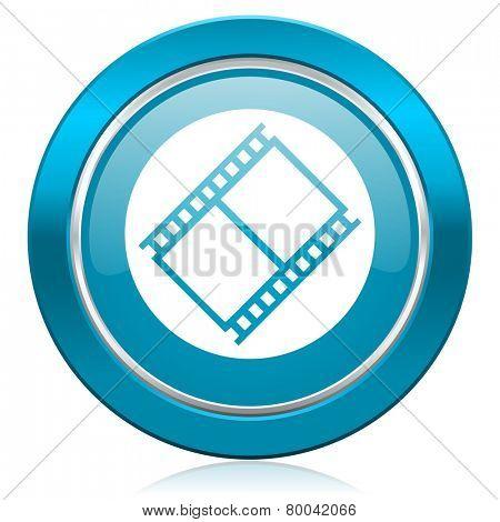 film blue icon movie sign cinema symbol  poster