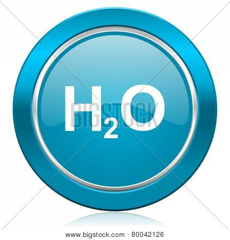 water blue icon h2o sign