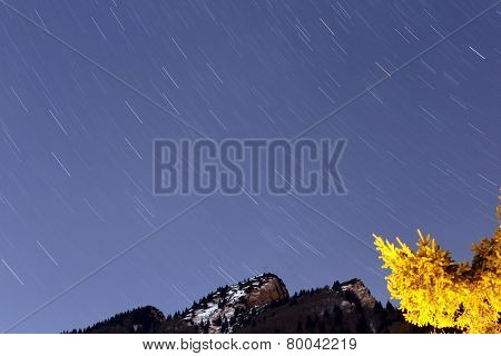 Movement Of The Starry Sky And The Mountain