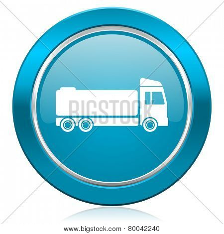 truck blue icon cargo sign