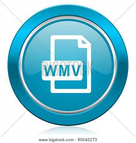 wmv file blue icon