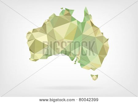 Low Poly map of Australia