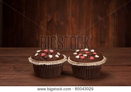 Delicious tasty cupcakes