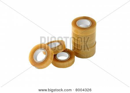 Adhesive Tape Isolated On White