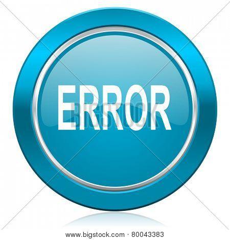 error blue icon