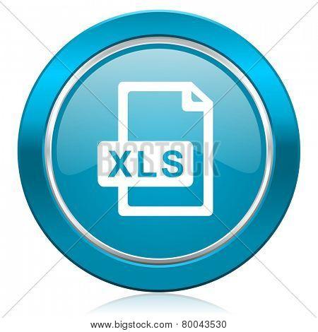 xls file blue icon
