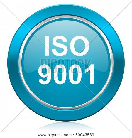 iso 9001 blue icon