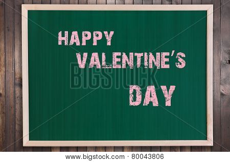 Happy Valentines Day Text On Chalkboard