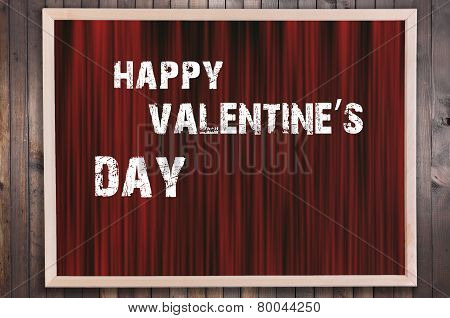 Happy Valentines Day Text On Curtain