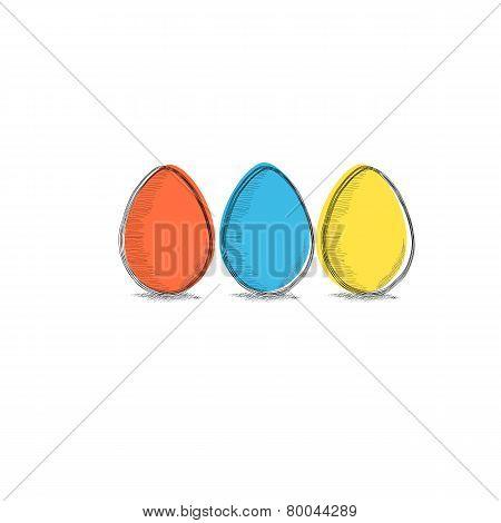 three colors eggs