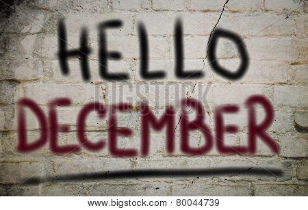 Hello December Concept