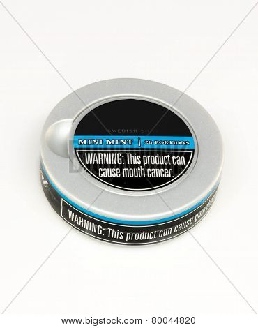 Can of Smokeless Tobacco